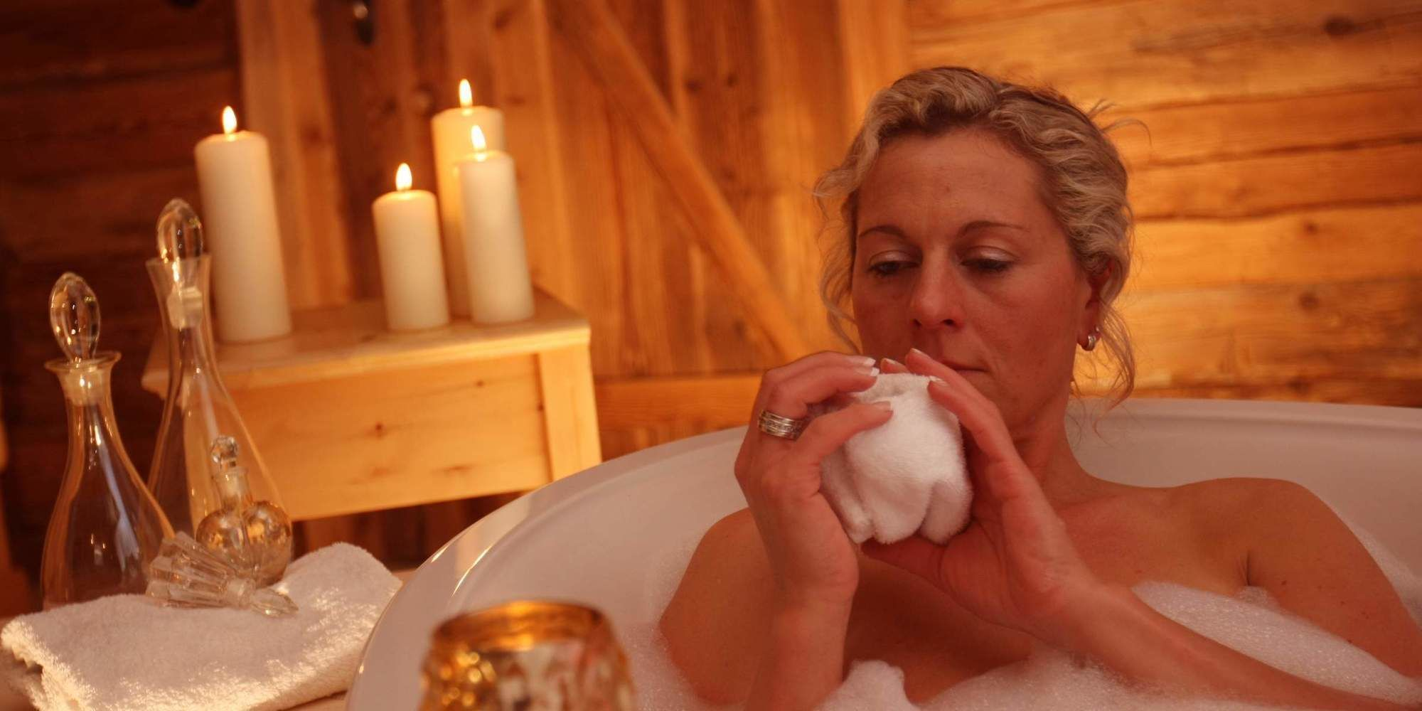Wellness im Luxus Chalet mit Massage